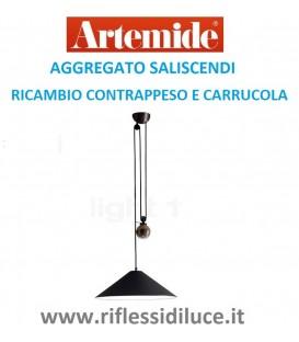 Artemide aggregato saliscendi cono antracite contrappeso e carrucola di ricambio