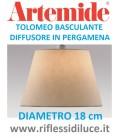Artemide diffusore in pergamena diametro 18 per Tolomeo basculante