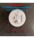 Artemide dioscuri 14 ricambio base parete/soffitto