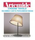 Artemide ricambio choose tavolo carta pergamena beige