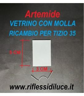 Artemide Tizio 35 vetrino e molla di ricambio
