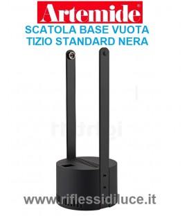 Artemide scatola di base vuota ricambio per Tizio standard nera alogena