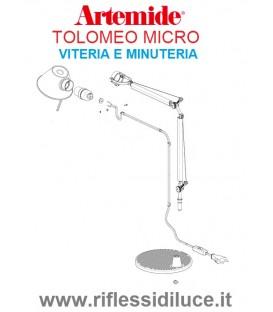 Artemide minuteria di ricambio per Tolomeo micro da tavolo