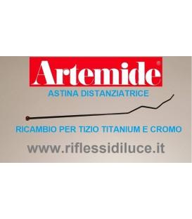 Artemide astina distanziatrice ricambio per tizio titanium e cromata