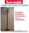 Artemide vetrino di protezione lampadina ricambio per piantana tebe