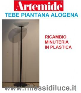 Artemide minuteria in plastica ricambio per piantana tebe