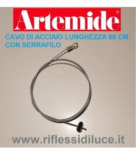 Artemide cavo di acciaio lunghezza 66 cm con serrafilo