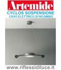 Artemide cavo elettrico di ricambio per sospensione Cyclos