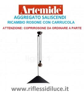 Artemide rosone con carrucola ricambio per aggregato saliscendi