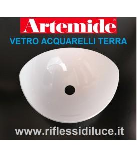 Artemide diffusore in vetro bianco ricambio per acquarelli terra