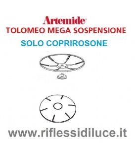 Artemide coprirosone in PVC silver ricambio Tolomeo mega sospensione