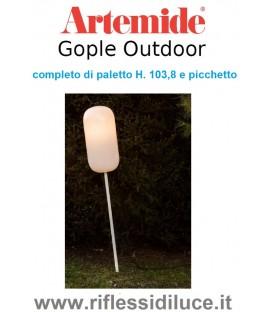 Artemide gople outdoor corpo lampada completo di paletto H. 103,8 e picchetto
