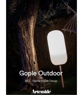Artemide gople outdoor corpo lampada completo di paletto H. 56,3 e picchetto