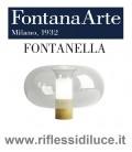 Fontana Arte fontanella grande base ottone