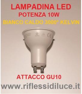 lampadina led attacco GU10 potenza 10W luce bianco caldo