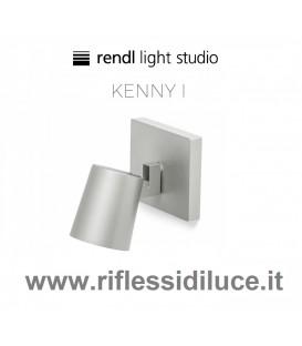 Rendl Light kenny 1 faretto parete soffitto struttura alluminio ghiera interna nera