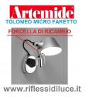 Artemide forcella di ricambio per tolomeo micro parete alluminio