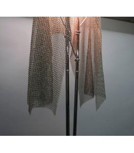 Artemide Anchise piantana maglie acciaio/ottone