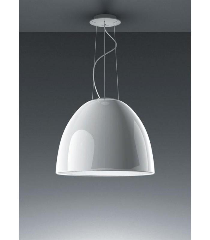 Artemide|Nur gloss sospensione halo bianco|lampada ecoalogena E27 ...