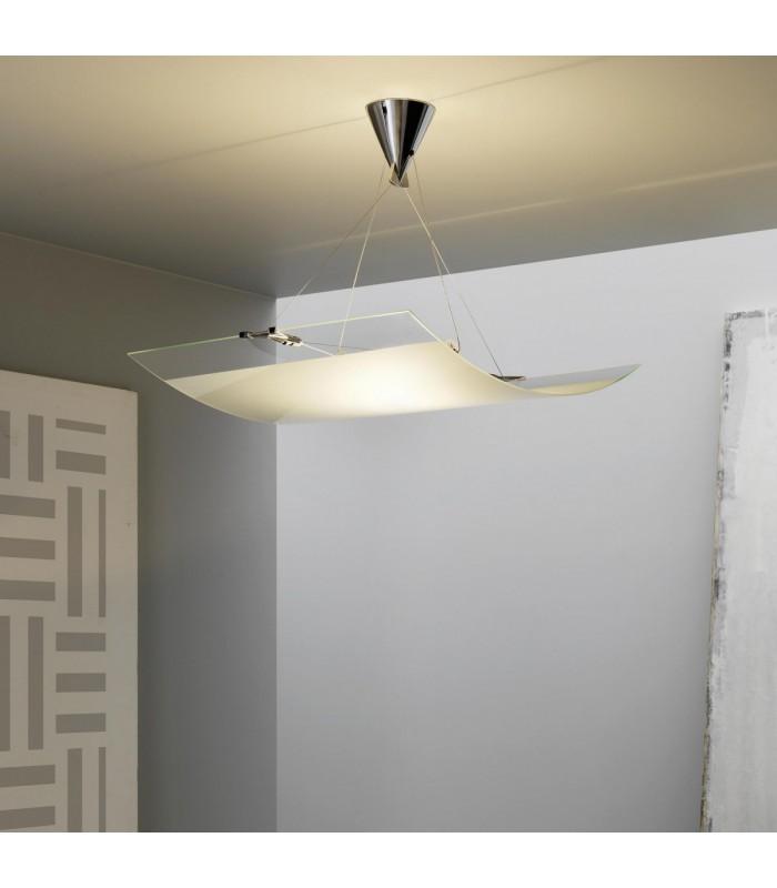 Fontana arte lampada a sospensione Velo 80X60 H.50 1X230W R7s ...