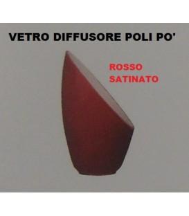 DE MAJO POLI PO' VETRO DIFFUSORE ROSSO SATINATO