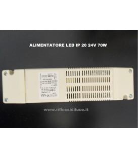 Alimentatore per strisce led 24V 70W contenitore in PVC per interno