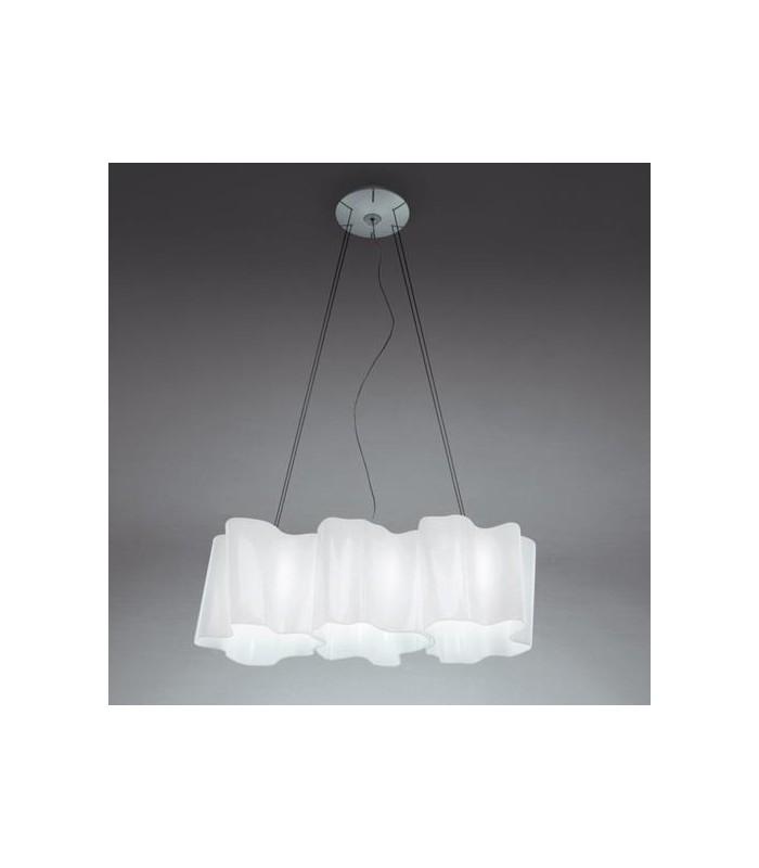 Artemide|Logico mini|sospensione 3 in linea|lampadario in vetro ...