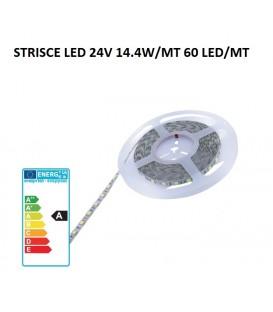 Molveno strisce led 24V 14,4W/MT 60 led/MT 3000K IP20