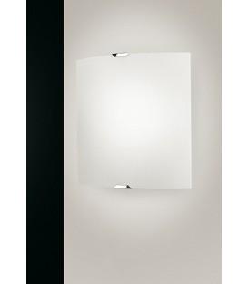 Egoluce Mirò plafoniera parete soffitto vetro curvo smerigliato bianco